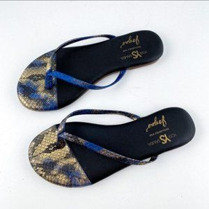 Revolve x Yosi Samra Snake Print Sandal Flip Flops